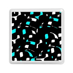 Blue, black and white pattern Memory Card Reader (Square)