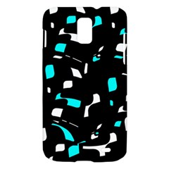 Blue, black and white pattern Samsung Galaxy S II Skyrocket Hardshell Case