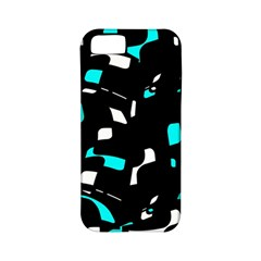 Blue, black and white pattern Apple iPhone 5 Classic Hardshell Case (PC+Silicone)