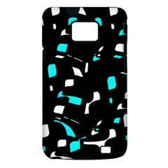 Blue, black and white pattern Samsung Galaxy S II i9100 Hardshell Case (PC+Silicone)