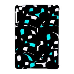 Blue, black and white pattern Apple iPad Mini Hardshell Case (Compatible with Smart Cover)