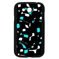 Blue, black and white pattern Samsung Galaxy Grand DUOS I9082 Case (Black)