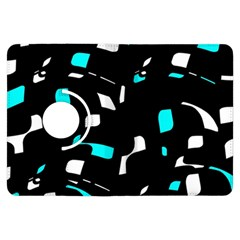 Blue, black and white pattern Kindle Fire HDX Flip 360 Case