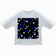 Blue, black and white  pattern Infant/Toddler T-Shirts