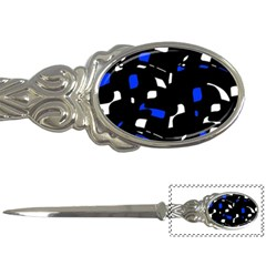 Blue, black and white  pattern Letter Openers