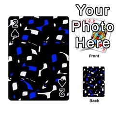 Blue, black and white  pattern Playing Cards 54 Designs