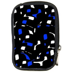 Blue, black and white  pattern Compact Camera Cases