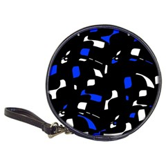 Blue, black and white  pattern Classic 20-CD Wallets