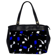 Blue, black and white  pattern Office Handbags