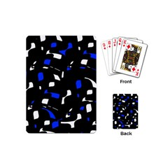 Blue, black and white  pattern Playing Cards (Mini)