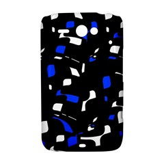 Blue, black and white  pattern HTC ChaCha / HTC Status Hardshell Case