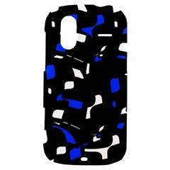 Blue, black and white  pattern HTC Amaze 4G Hardshell Case