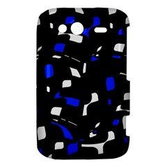 Blue, black and white  pattern HTC Wildfire S A510e Hardshell Case