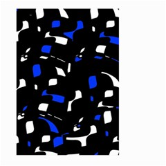 Blue, black and white  pattern Large Garden Flag (Two Sides)