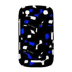 Blue, black and white  pattern BlackBerry Curve 9380