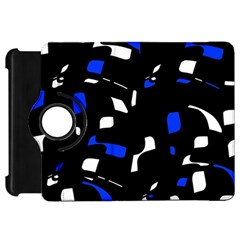 Blue, black and white  pattern Kindle Fire HD Flip 360 Case