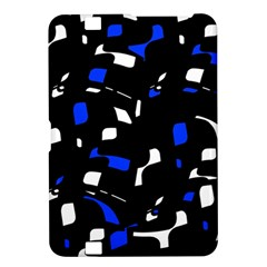 Blue, black and white  pattern Kindle Fire HD 8.9