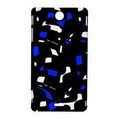 Blue, black and white  pattern Sony Xperia TX
