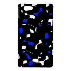 Blue, black and white  pattern Sony Xperia Miro