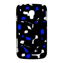 Blue, black and white  pattern Samsung Galaxy Duos I8262 Hardshell Case