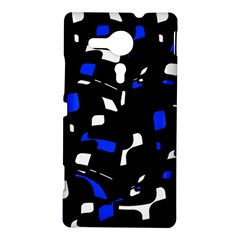 Blue, black and white  pattern Sony Xperia SP