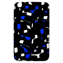Blue, black and white  pattern Samsung Galaxy Tab 3 (8 ) T3100 Hardshell Case