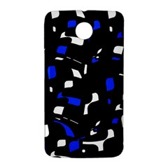Blue, black and white  pattern Nexus 6 Case (White)