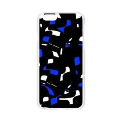 Blue, black and white  pattern Apple Seamless iPhone 6/6S Case (Transparent)