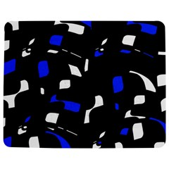 Blue, black and white  pattern Jigsaw Puzzle Photo Stand (Rectangular)