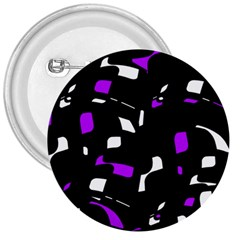 Purple, black and white pattern 3  Buttons
