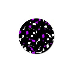 Purple, black and white pattern Golf Ball Marker (10 pack)