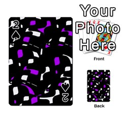 Purple, black and white pattern Playing Cards 54 Designs