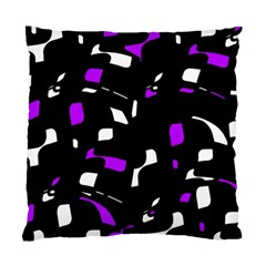 Purple, black and white pattern Standard Cushion Case (Two Sides)