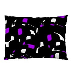 Purple, black and white pattern Pillow Case
