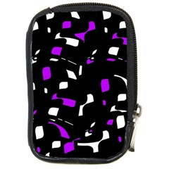 Purple, black and white pattern Compact Camera Cases