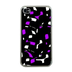 Purple, black and white pattern Apple iPhone 4 Case (Clear)