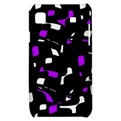 Purple, black and white pattern Samsung Galaxy S i9000 Hardshell Case