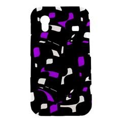 Purple, black and white pattern Samsung Galaxy Ace S5830 Hardshell Case