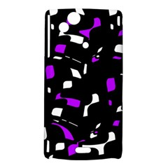 Purple, black and white pattern Sony Xperia Arc