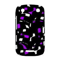 Purple, black and white pattern BlackBerry Curve 9380