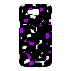 Purple, black and white pattern Samsung Galaxy Premier I9260 Hardshell Case