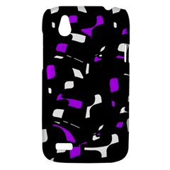 Purple, black and white pattern HTC Desire V (T328W) Hardshell Case