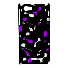 Purple, black and white pattern Sony Xperia J