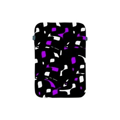Purple, black and white pattern Apple iPad Mini Protective Soft Cases