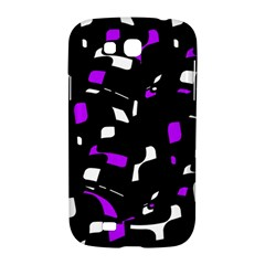 Purple, black and white pattern Samsung Galaxy Grand GT-I9128 Hardshell Case