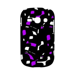 Purple, black and white pattern Samsung Galaxy S6810 Hardshell Case