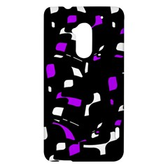 Purple, black and white pattern HTC One Max (T6) Hardshell Case