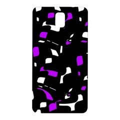 Purple, black and white pattern Samsung Galaxy Note 3 N9005 Hardshell Back Case