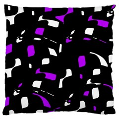 Purple, black and white pattern Standard Flano Cushion Case (One Side)