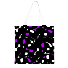 Purple, black and white pattern Grocery Light Tote Bag